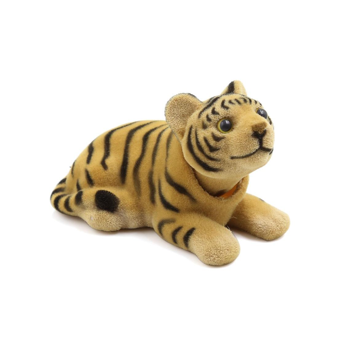 X autohaux авто интерьера качает головой тигра формы кивнув собака желтый черный