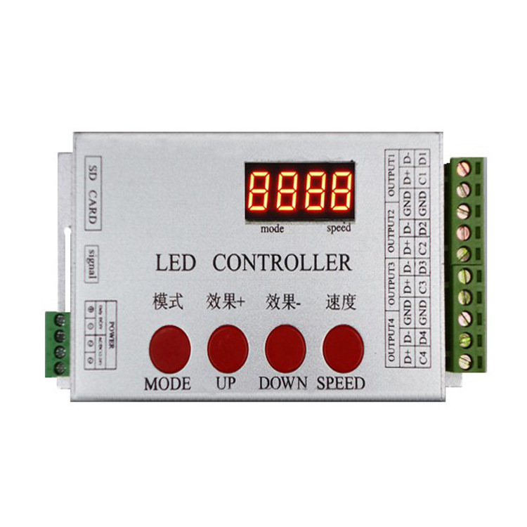 цена на DMX512 controller RGB light with dimmer SD card program 12 / 24VRGB full color Symphony Controller