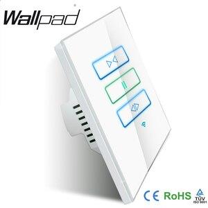 Image 2 - Hot Wallpad Wit Glas 120 AU US 110 ~ 250 v Draadloze Wifi Elektrische Afstandsbediening Gordijn Schakelaar, gratis Verzending