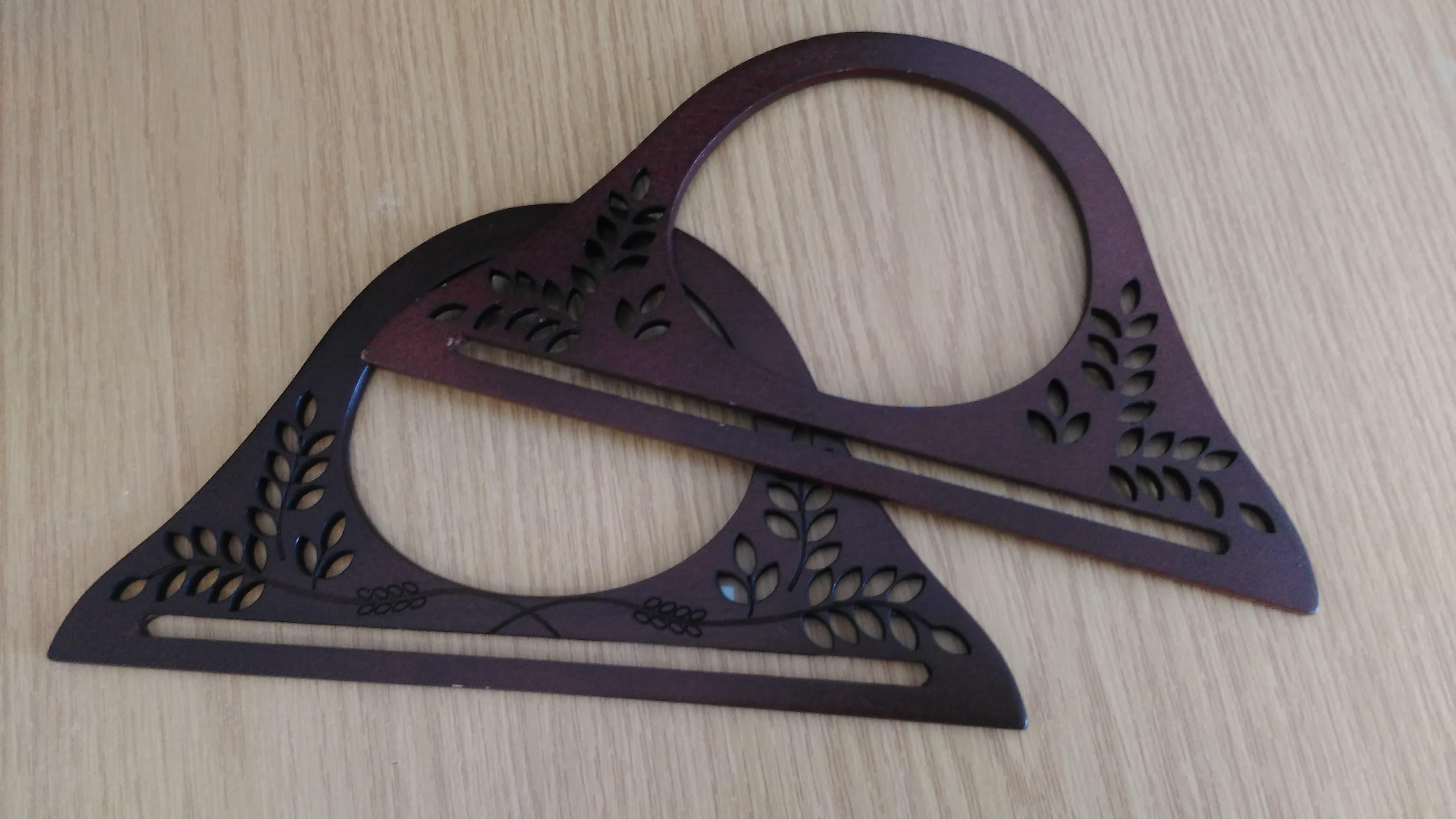 Houten handvat portemonnee Frame houten tas handvat DIY handtas accessoires photo review