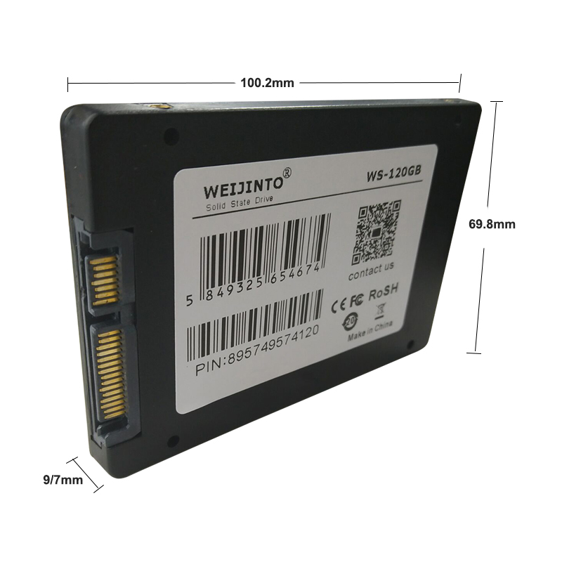 WEIJINTO SSD 120GB 128GB SATAIII SATA3 Solid State Hard Drive Disk 128GB & 2.5 SSD To 3.5 Metal Mounting Adapter For Desktop