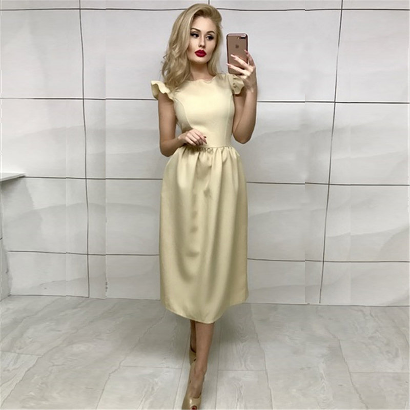 bd4c61cb253 New Arrivals Summer Dress 2018 Women Elegant Bohemian Prom Midi Dress  Ruffle Casual Vintage Party Long Dresses Plus Size vestido-in Dresses from  Women s ...