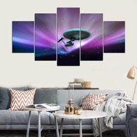 5 Pieces Movie Star Trek Modular Pictures Wall Art Canvas Paintings HD Printed Poster Modern Decorative