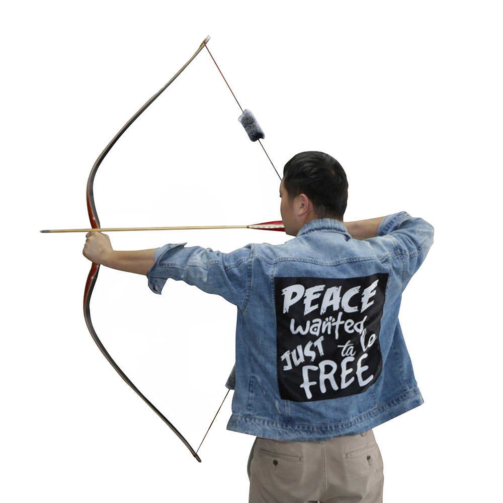 medium resolution of  30 50lbs archery handmade traditional longbow wooden hunting target shooting laminated arrow achery bow outdoor