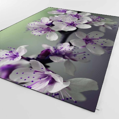 Else Green Floor White Purple Orchid Flowers  3d Print Non Slip Microfiber Living Room Decorative Modern Washable Area Rug Mat