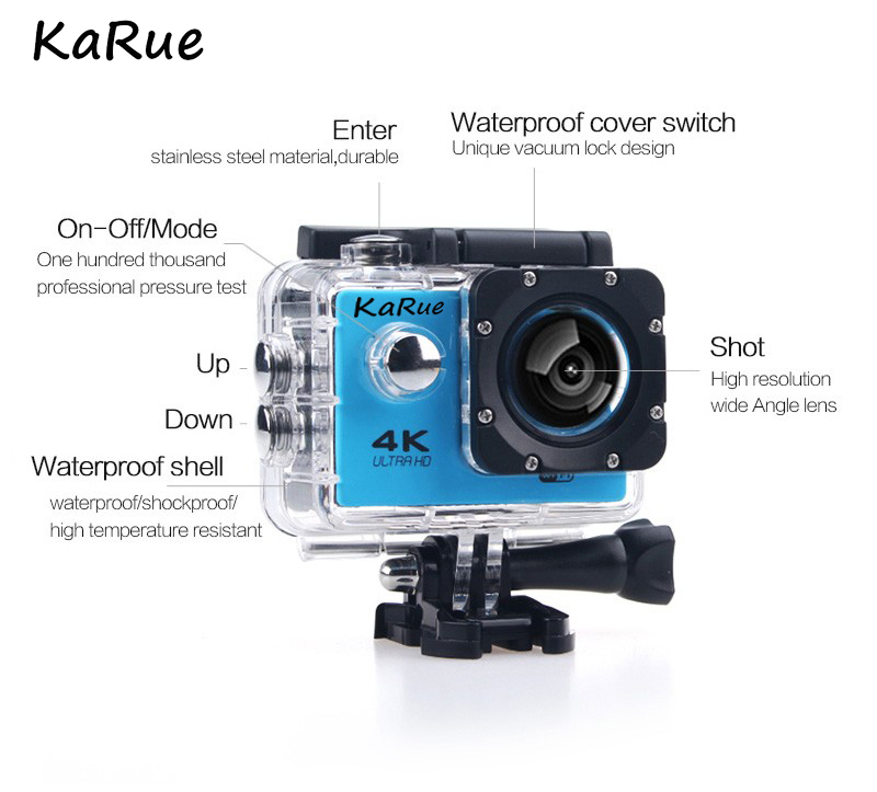 Action camera Ultra HD 4k WiFi 1080p 60fps Features