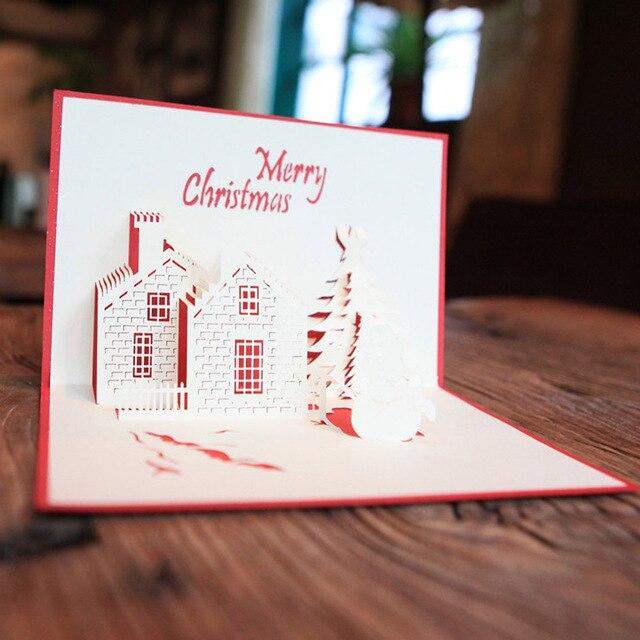 christmas cards 3d pop handmade custom greeting cards merry christmas series santas custom greeting cards christmas