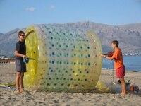 Бесплатная доставка 2 шт. надувной Зорб водяные шариковые ролики, надувной шар для ходьбы по воде игрушки для моря
