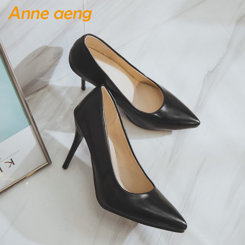 spring women pumps high thin heels pointed toe classic elegant office sexy ladies women shoes black woman pumps big size 34-46 модель дома the cute room intellectual interest in housing 10 11 12 13 14