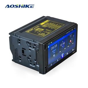 Image 1 - AOSHIKE GPS 2 喧騒車のマルチメディアプレーヤー 7 HD 車 MP5 プレーヤー Bluetooth WIFI クアッドコアアンドロイド 6.0 FM MP4