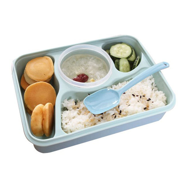 Portable kids Microwave bowl with Spoon Utensils rice Soup Bowl Food Container Storage Bento Box baby feeding tableware