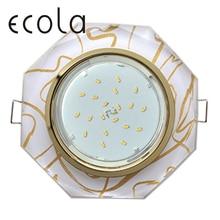 Ecola GX53 H4 5312 Glass светильник встраиваемый для ламп GX53 Стекло 8-угольник с прямыми гранями 38x133