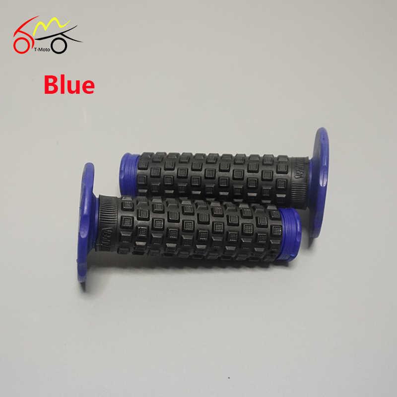 Mx Bantal Hitam Merah Biru Twist Throttle Genggaman Motocross Dirtbike Enduro Bantalan Ekstra Lembut Grip 0805