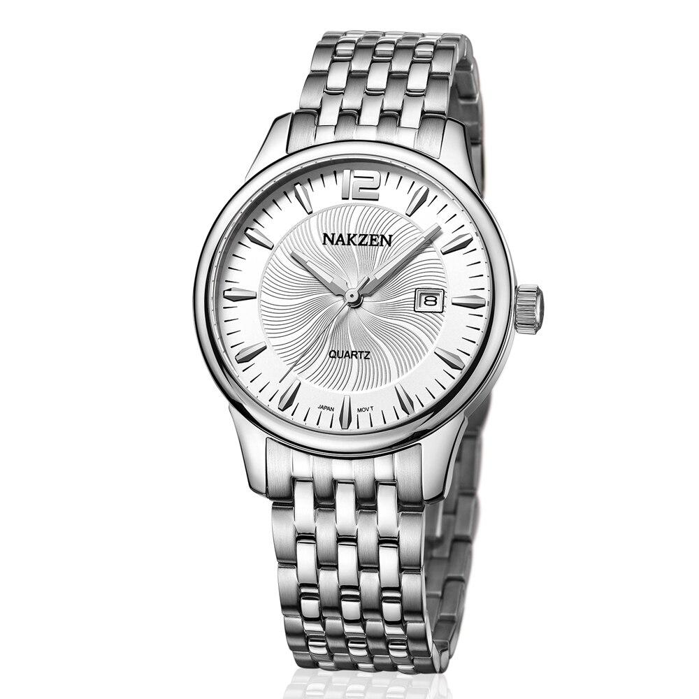 Nakzen marca superior de luxo dos homens relógios quartzo homem calendário negócios ouro relógio masculino à prova dwaterproof água relógio esporte relogio masculino