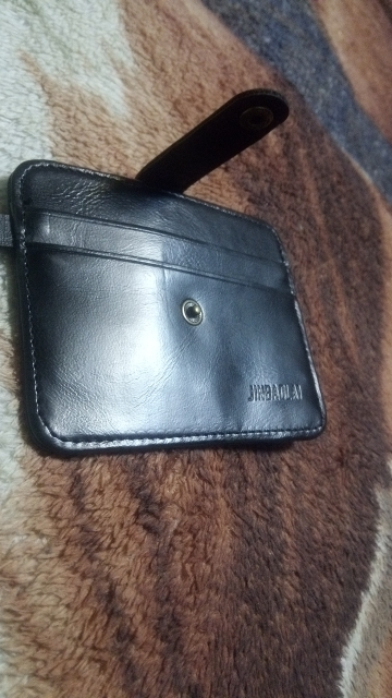 2019 Hot Selling Men's Faux Leather Slim Wallet ID Credit Card Holder Button Case photo review