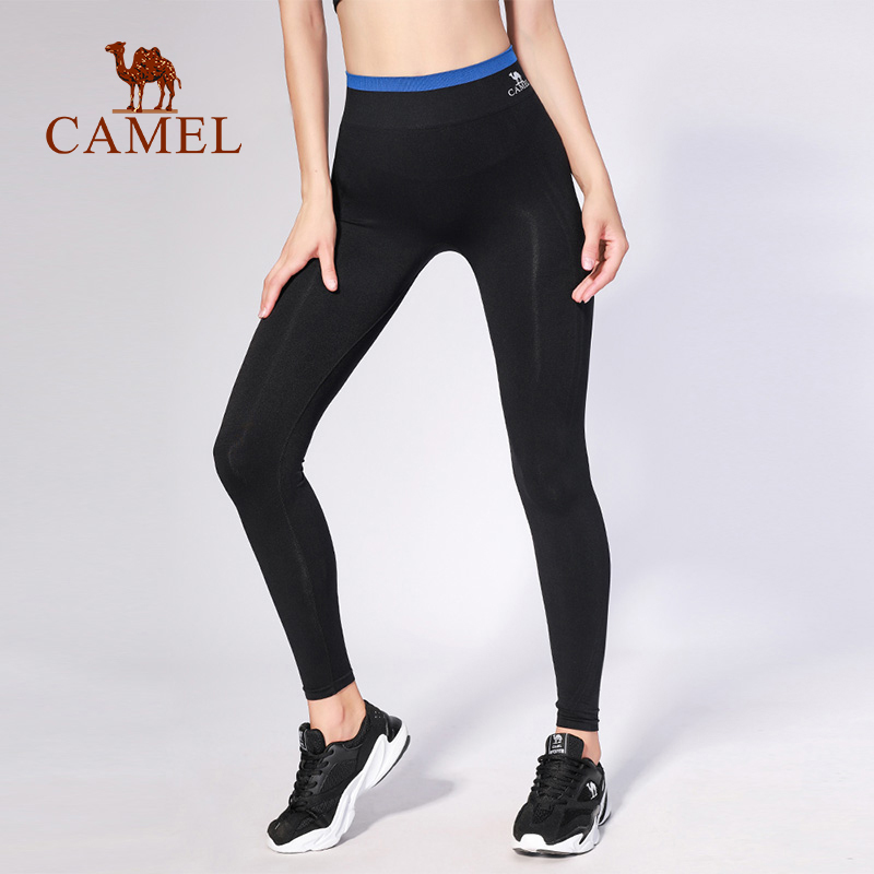 CAMEL Women Sports Tights Running Legging Yoga Pants Fitness Soft High Waist Breathable Gym Compression Tights Pant tights