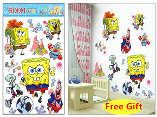 D Cartoon Spongebob Wall Sticker Home Decoration Wall Decals For - Spongebob room decals