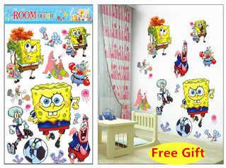 3D мультфильм Губка Боб стикер на стену украшение дома настенные наклейки для детей комнаты подарок детский сад обои настенные для гостиной плакат