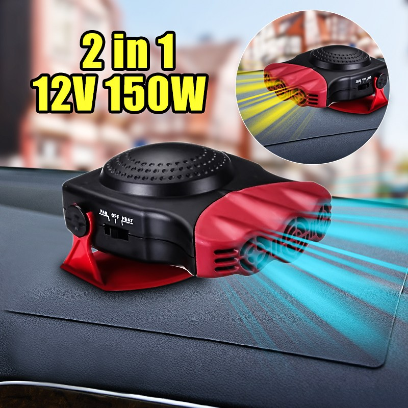 12V 150W Protable Auto Car Heater Heating Cooling Fan Windscreen Window Demister DEFROSTER Driving Defroster Demister portable 150w ptc car vehicle heating heater hot fan defroster demister dc 12v