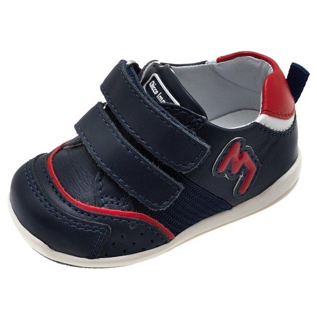Ботинки на липучке из натуральной кожи Chicco, размер 200, цвет сине-красный