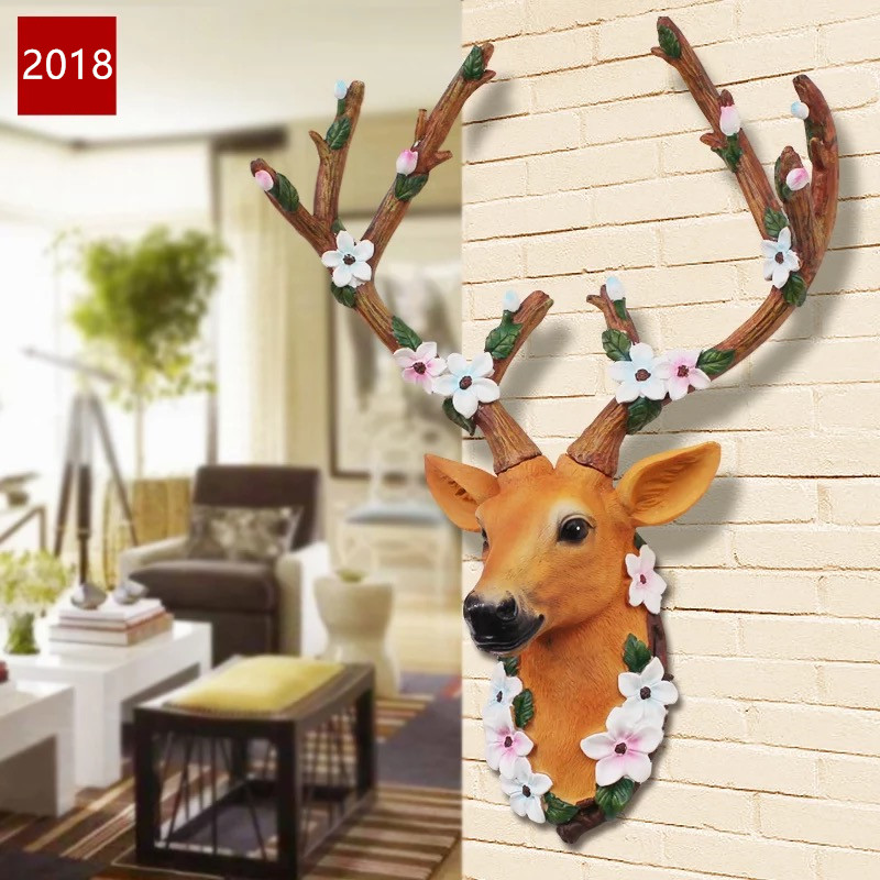 American pastoral deer wall home entrance porch wall decorations restaurant retro wall p ...