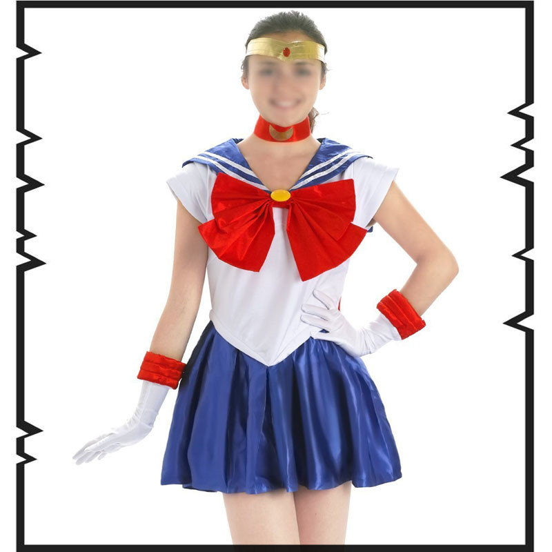 Japanse Anime Sailor Moon Kostuum Tsukino Usagi Blue Fancy Dress - Carnavalskostuums