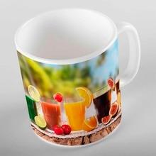 Еще зеленый тропический пляж оранжевый зеленый черный сок Фрукты 3d печать подарок керамическая питьевая вода Чай медведь кофейная чашка кружка кухня