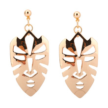 2017 New Fashion Design Quality Alloy Hollow Mask Face Earrings For Women party