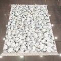Белый и серый Галька Камни природа Современный 3d Рисунок печать микрофибра Противоскользящий задний моющийся декоративный ковер