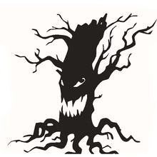 Wall Sticker Halloween  tree Home Decor Vinyl Removable Art Wall Decal For Children Bedroom