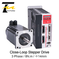 YAKO Stepper Motor MS L3P and YK386EC127A1 8N.M 4A 220V AC CNC Hybrid Servo Driver DSP 200KHz for Robot CNC Engraving Machine