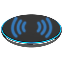 FancyQbue Black Slim Metal Circle Qi Wireless Charger 5W For IPhone Samsung Mobile Phone Charging Gift Hot Sale