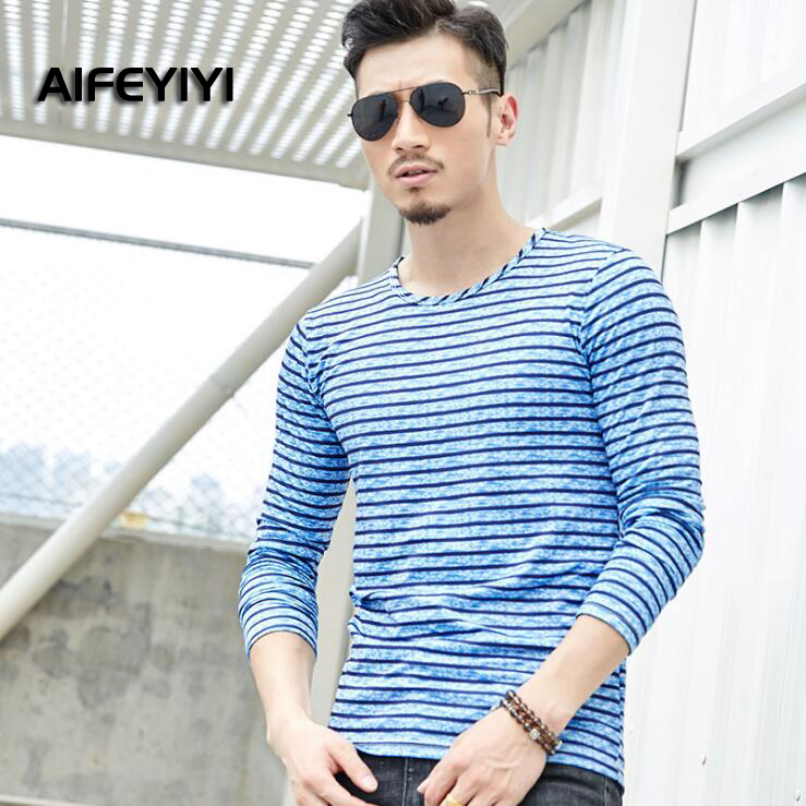 2018 new autumn and winter men's long-sleeved T-shirt Teen casual bottoming shirt men's long-sleeved T-shirt 2016 new children s clothing boys long sleeved t shirt large child bottoming shirt spring striped shirt tide