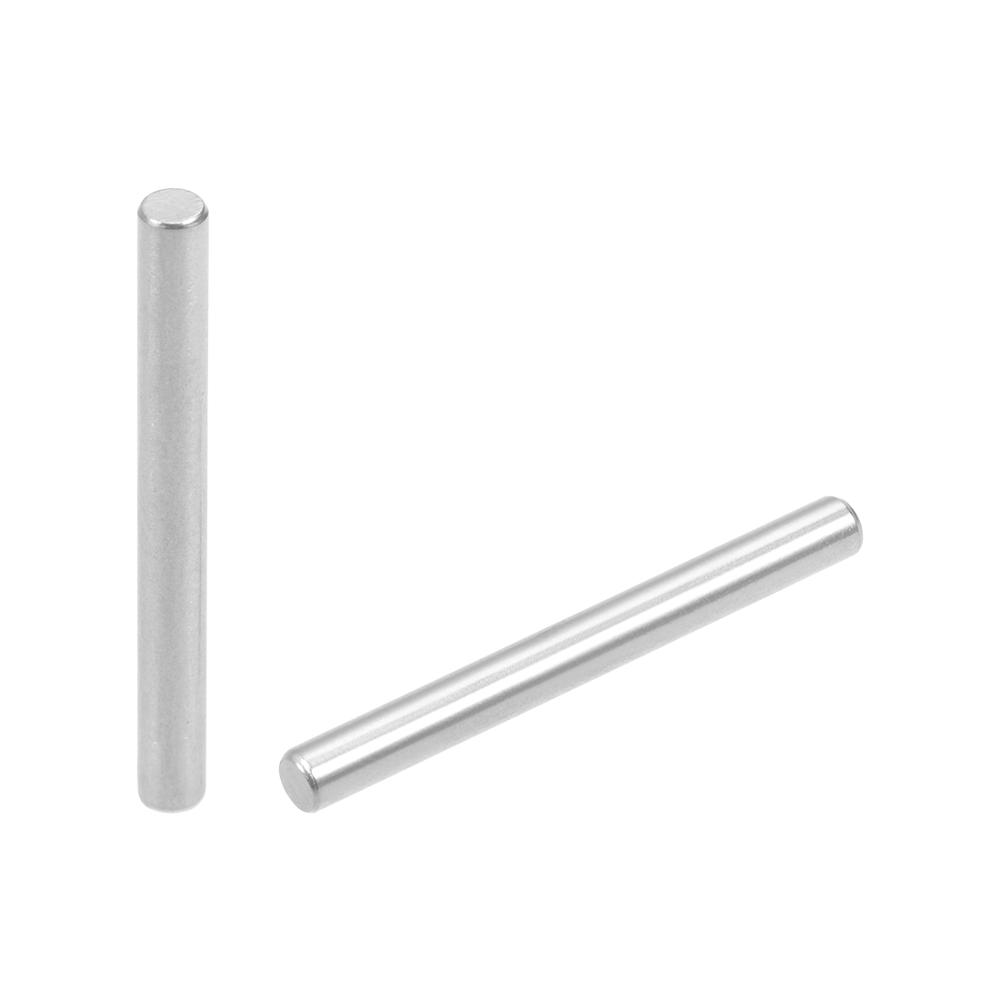 uxcell 100Pcs 3mm x 12mm Dowel Pin 304 Stainless Steel Cylindrical Shelf Support Pin Fasten Elements Silver Tone
