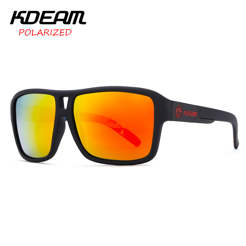 292fa2b460f KDEAM New Mirror Sunglasses Men Sports Eyewear Women Polarized Big Size Sun  Glasses UV400 Protection With Hard Case KD520