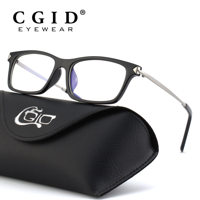 CGID Computer Glasses Anti Blue Ray UV400 Goggle Eyewear Radiation Protection HD Eyeglasses Frame Square TR90 for Reading CT35