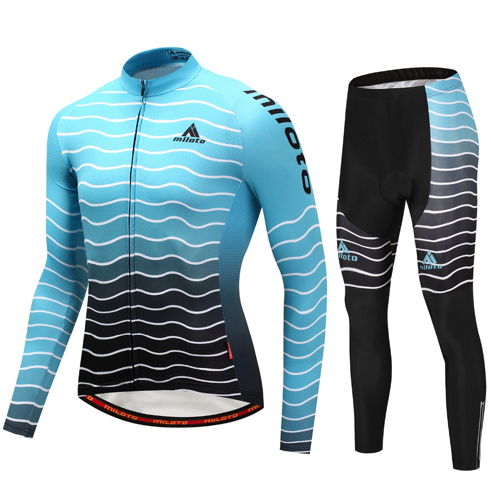 Cycling Clothing 2018 Pro Team Blue Line Cycling Clothing Long Sleeves Autumn Thin Mem Cycling Jerseys Mtb Bike Ropa Ciclismo Cycle Sportswear In Cycling Sets From
