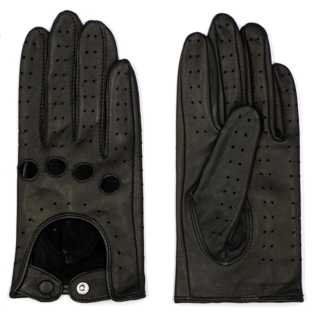 a200acd6c 3 Harssidanzar Womens Luxury Italian Lambskin Leather Driving Gloves  Unlined Vintage Finished Black Touchscreen