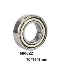 3 шт./лот 6800ZZ 10*19*5 мм Железная Крышка Герметичный глубокий шаровой тонкостенный подшипник 6800-ZZ 10x19x5 мм Высококачественный подшипник стали
