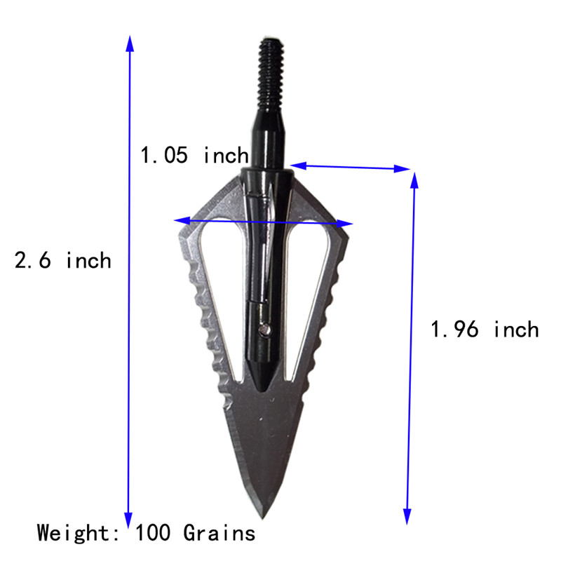 Image 2 - 6pcs Hunting Arrowhead 100Gr Steel Broadhead Arrow Point Target Shooting Tips Crossbow Compound Recurve Bow Head-in Bow & Arrow from Sports & Entertainment