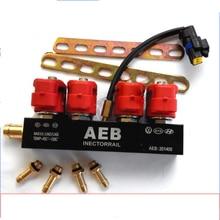 Rail de injeção Common Rail para GNV Sistema Seqüencial AEB 4 Cylinderes Rail Injector de Combustível Kit