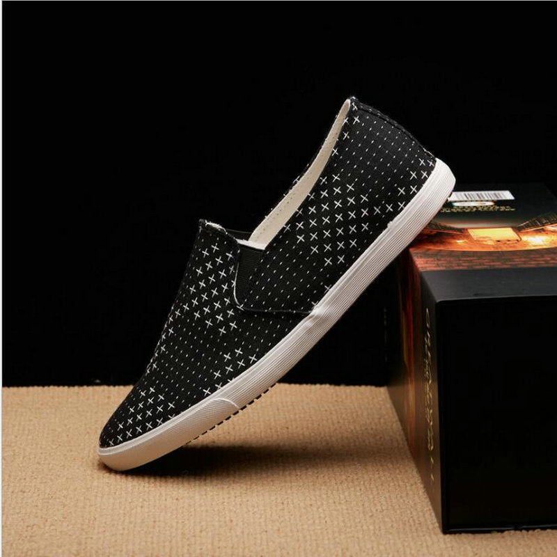 New 2018 Summer Autumn Brand Mens Casual Shoes Breathable Boys Black Bule Low Canvas Shoes Men Flats slip on laofers shoes LE-84