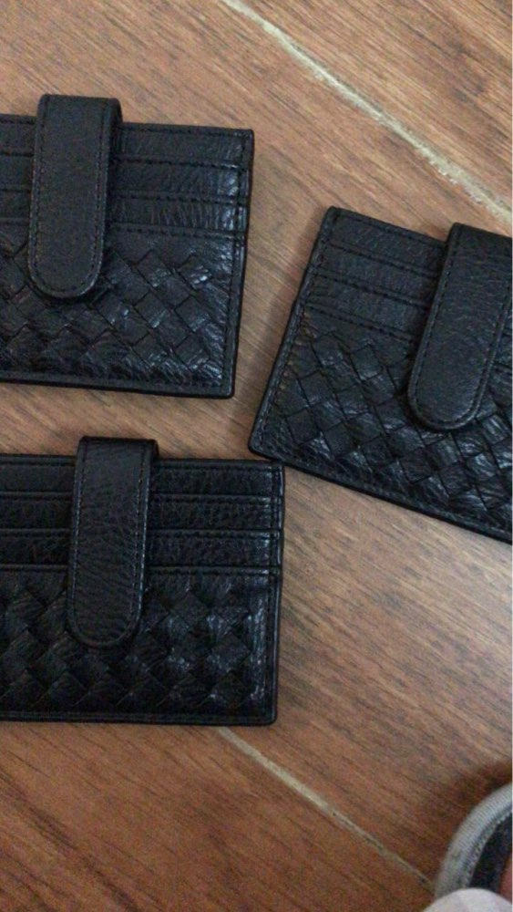 XZXBBAG PU Slim Woven Card Case Bag Women Small Wallet ID Credit Cards Holder Covers Female Cards Pack Cash Pocket Cardholder photo review