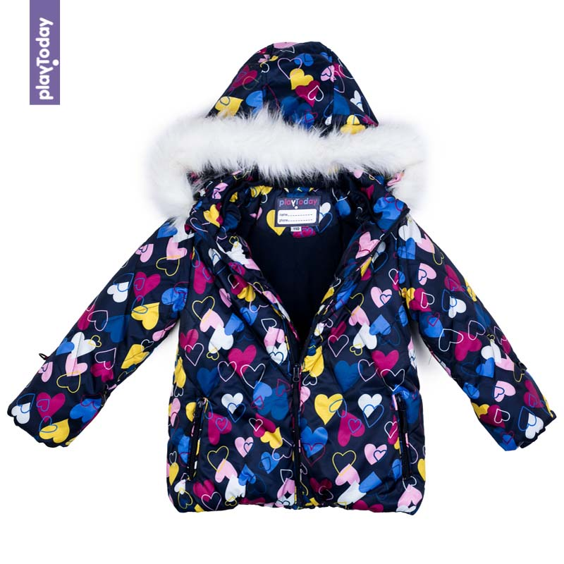 Jackets & Coats PLAYTODAY for girls 372152 Children clothes kids clothes children floral clothes 2017 winter girls kids clothes set jackets jeans outfits 2pcs kids sport suit for girls clothing sets
