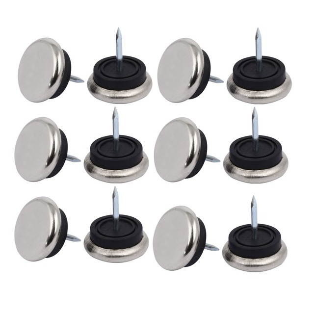 US $8 19 36% OFF|12Pcs Furniture Chair Table Leg Foot 27x28mm Glide Slide  Nails Protectors For All Types Of Furniture Casters Hardware-in Casters  from