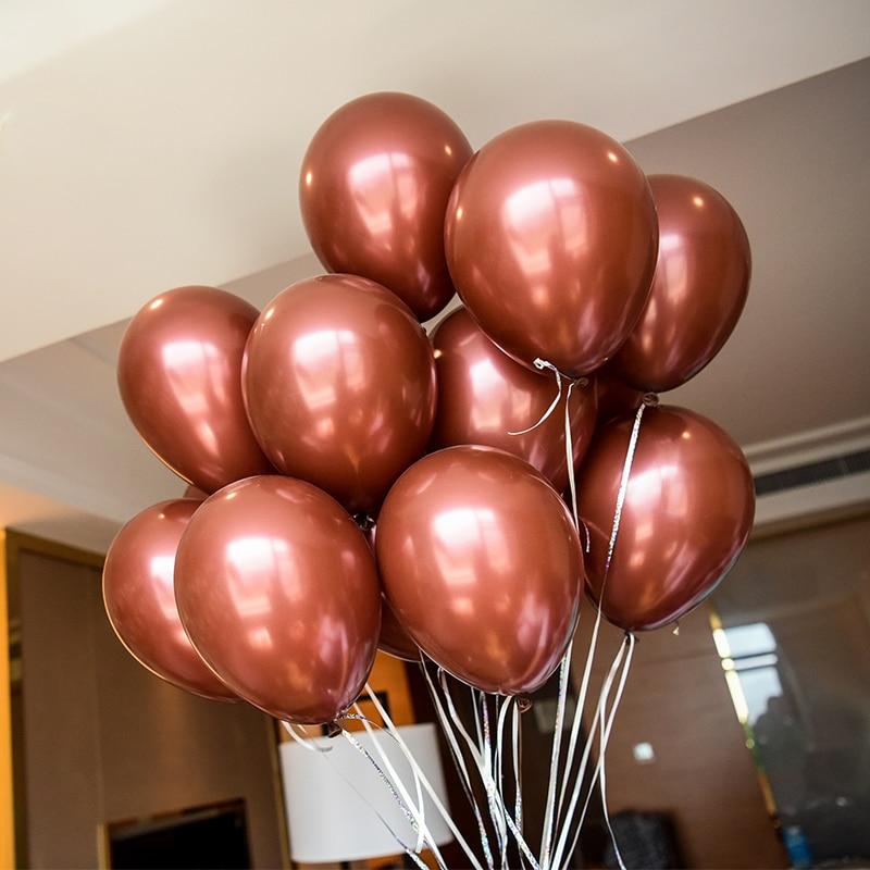 10pcs 2 2g brown latex pearl balloon inflatable helium air globo wedding font b valentines b