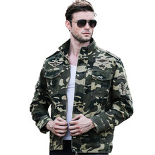 Outdoor Camouflage Hunting Jacket Men Military Tactical Combat Jacket Cotton Coat Multicam Hiking Fishing Jackets(China)