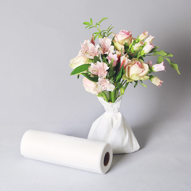 25cm x 37cm 100pc Flower Packing Cotton Paper Floral Keep Water Foam For Rose Bouquet Moisturizing Paper Foam Florist Suppliest