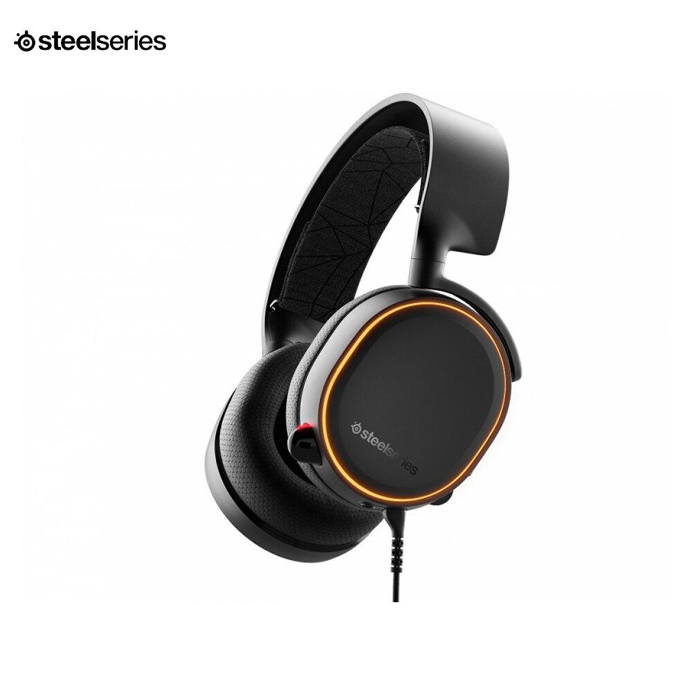 цена на Professional computer gaming headset SteelSeries ARCTIS 5 2019 edition (black/white) cyber sport