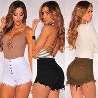 Denim Shorts New Arrival 2018 Women's Fashion Brand Vintage Tassel 100% Cotton High Waist Shorts Punk Sexy Short Jeans S0401